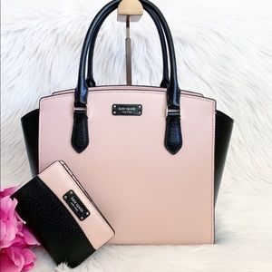🔥BNWT KATE SPADE JEANNE SATCHEL W/WALLET SET